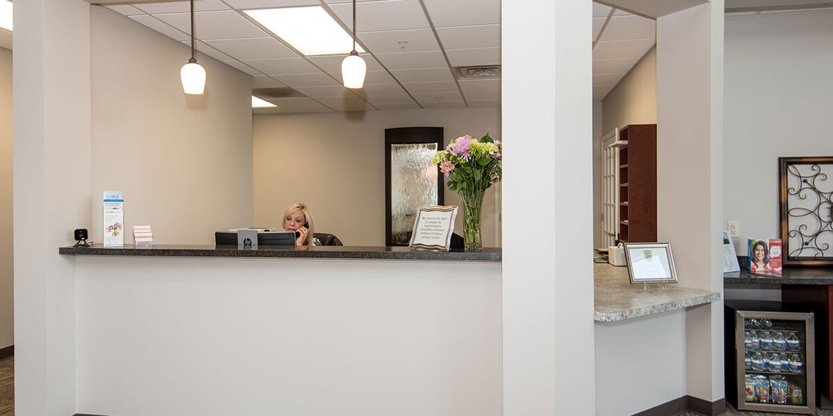 Patient Information reception desk
